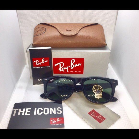 6f9ae67232 Ray ban wayfarer 2140 54mm black g15 Lens